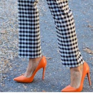 Per Se checked above the ankle pants